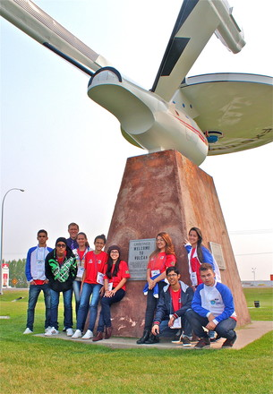 Students from Brazil made a stop at the Town of Vulcan, which is known for its celebrations of all things Star Trek.