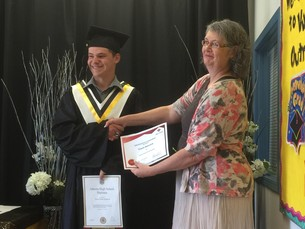 Travis earned his high school diploma and credits in work experience